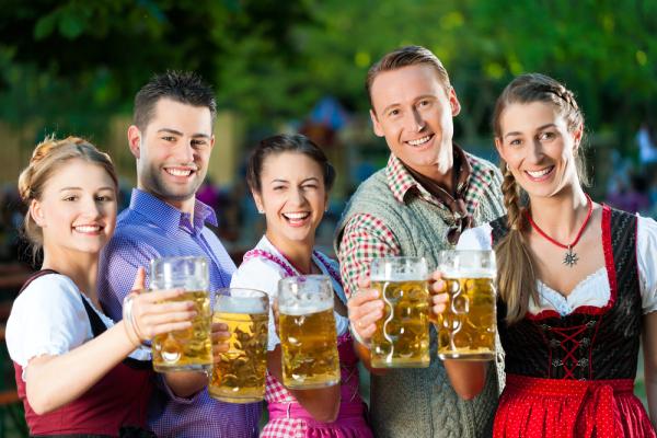 Pivo na oktoberfestu